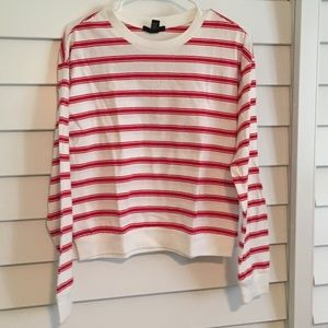 Forever 21 red and white striped Tee
